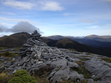 View southwest (ish) over Kahurangi National Park from above the hut.