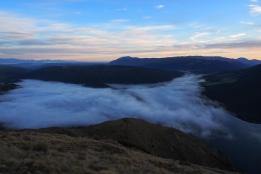 Sunrise from Bushline Hut.