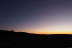 Pre dawn moon from Sylvester Hut.